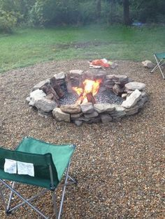 Natural Stone Fire Pit Firepits Outdoor Backyard