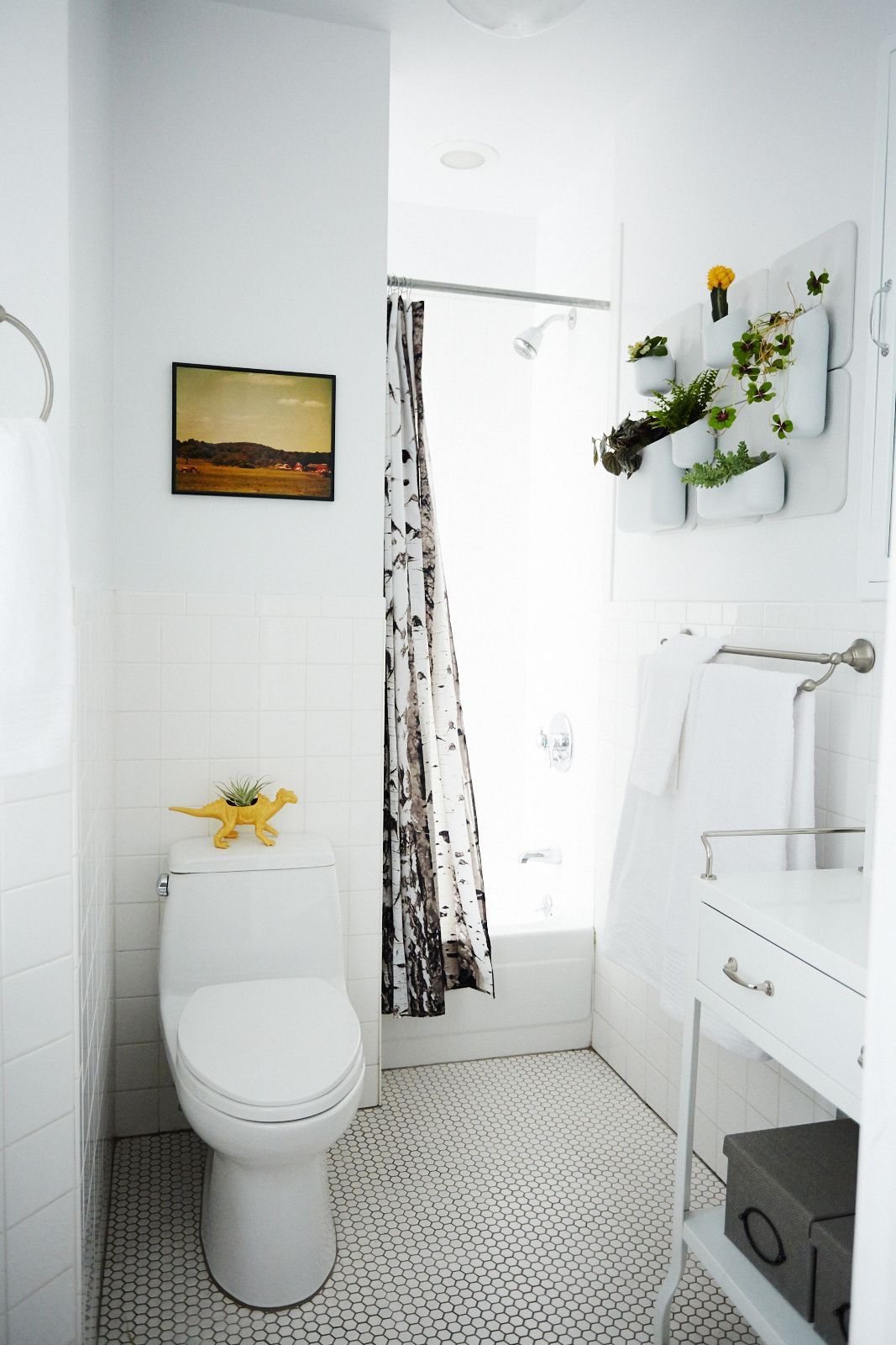 50 Small-Space Living Ideas You Can Use Now   White tiles ...