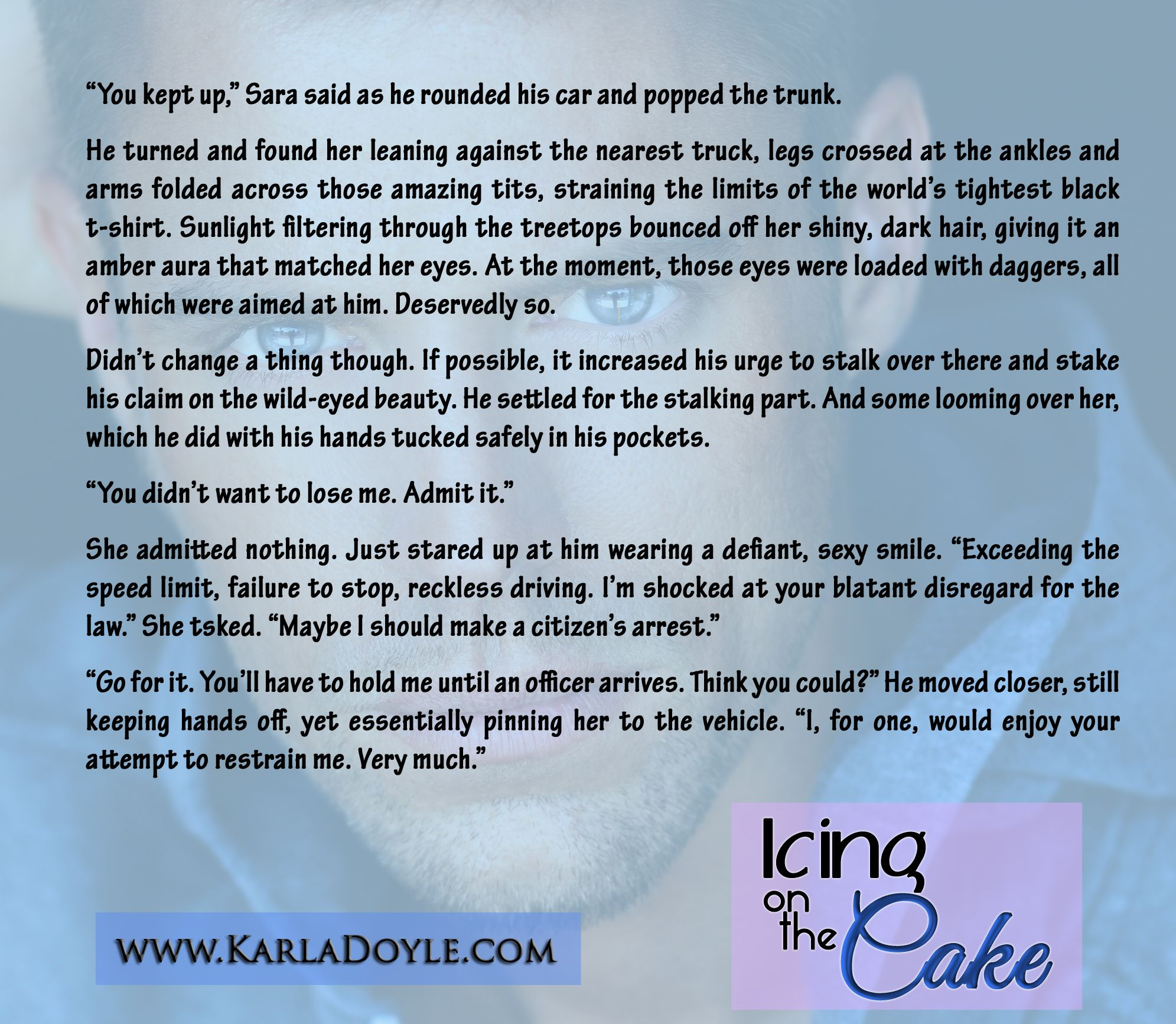 """Icing on the Cake by Karla Doyle """"You Kept Up"""""""