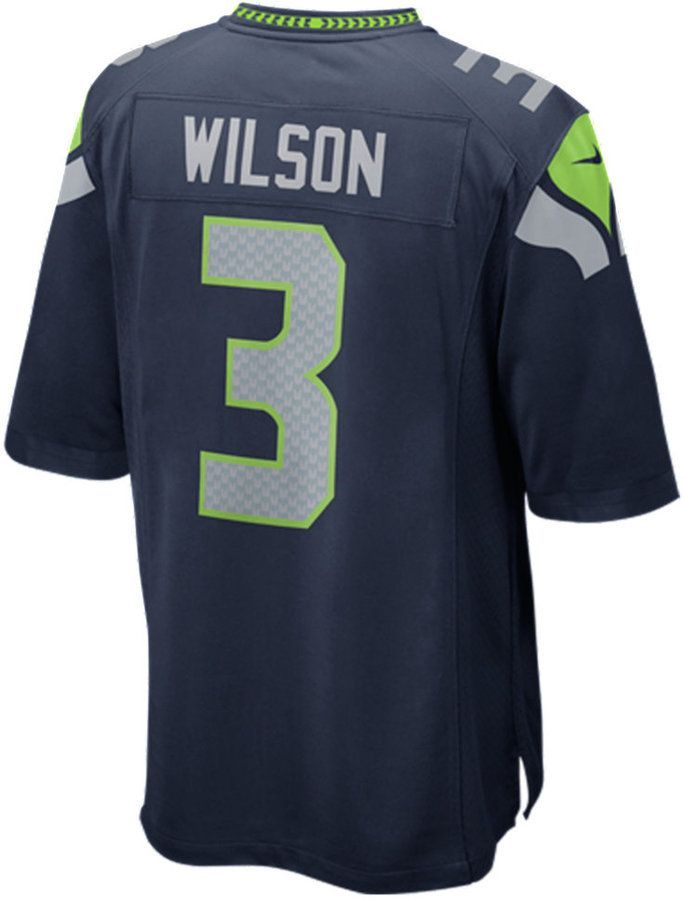 8544bb32 Nike Men Russell Wilson Seattle Seahawks Game Jersey | Products ...