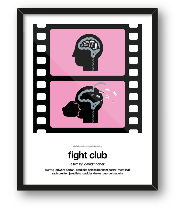 Pôsteres pictogramas - Clube da Luta