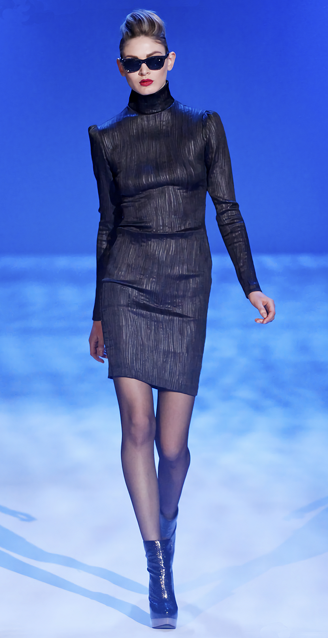 FALL 2010 READY-TO-WEAR // Christian Siriano // Model Viktoria Sekrier