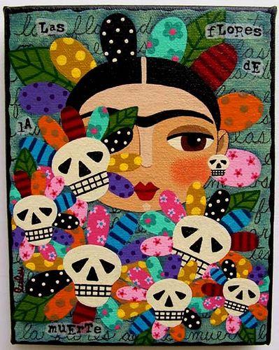 Frida Calaveras Flores By LuLu MyPinkTurtleStudio
