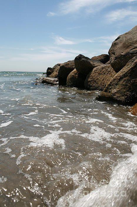 Ocean / Beach in Rhode Island - Print for sale at Fine Art America by Bonnie