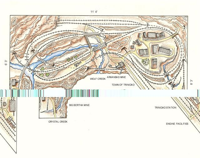 Track plan the wolf creek line narrow gauge ho for Colorado plan