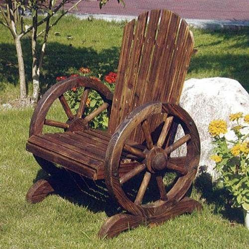 Detalles De Voltereta Solidwood Silla Palmas Exterior Hogar Jardin