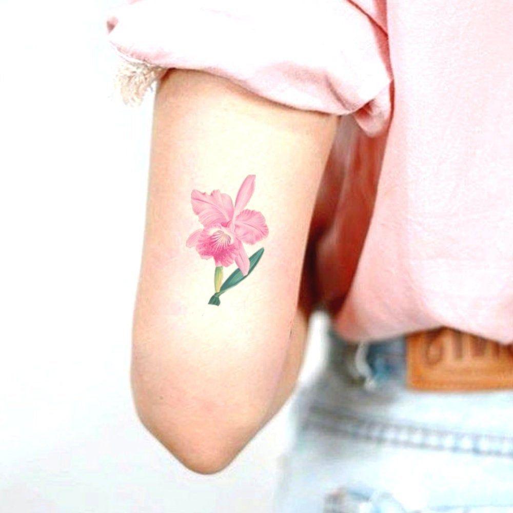 14 Anniversario Di Matrimonio.14 Anniversario Di Matrimonio Tatuaggio Temporaneo Orchidea Rosa