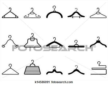 cabides roupas, ícone,  Ampliar Ilustração