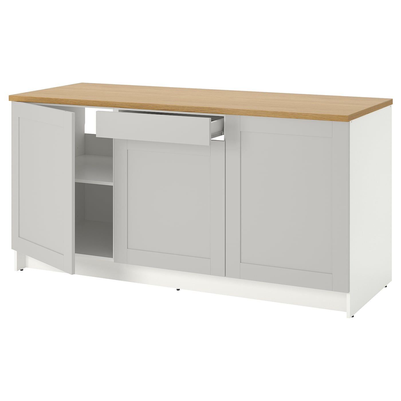 Knoxhult Base Cabinet With Doors And Drawer Gray Countertop Length 72 3 8 Ikea In 2020 Cabinet Doors Base Cabinets Countertops