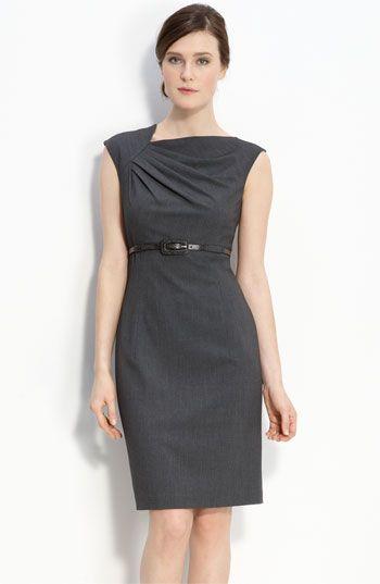 661e5678b67b Calvin Klein Belted Asymmetrical Sheath Dress (Regularly $118; on sale for  $58.90)