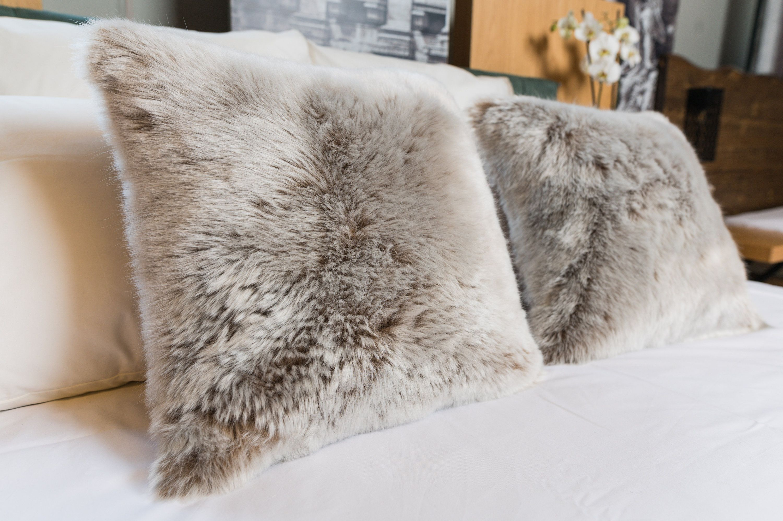 nerina faux fur pillow cover pillow
