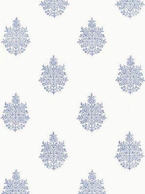 DecoratorsBest - Detail1 - Sch 5005321 - Asara Flower - Delft - Wallpaper - Holiday Sale - DecoratorsBest