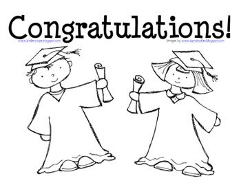 graduation coloring page for preschool and kindergarten - Kindergarten Coloring Page