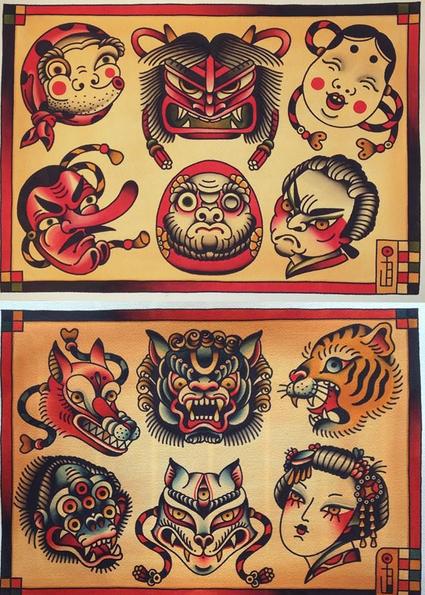 Pin by yaku tattooer on pinterest tattoo for Japanese tattoo flash