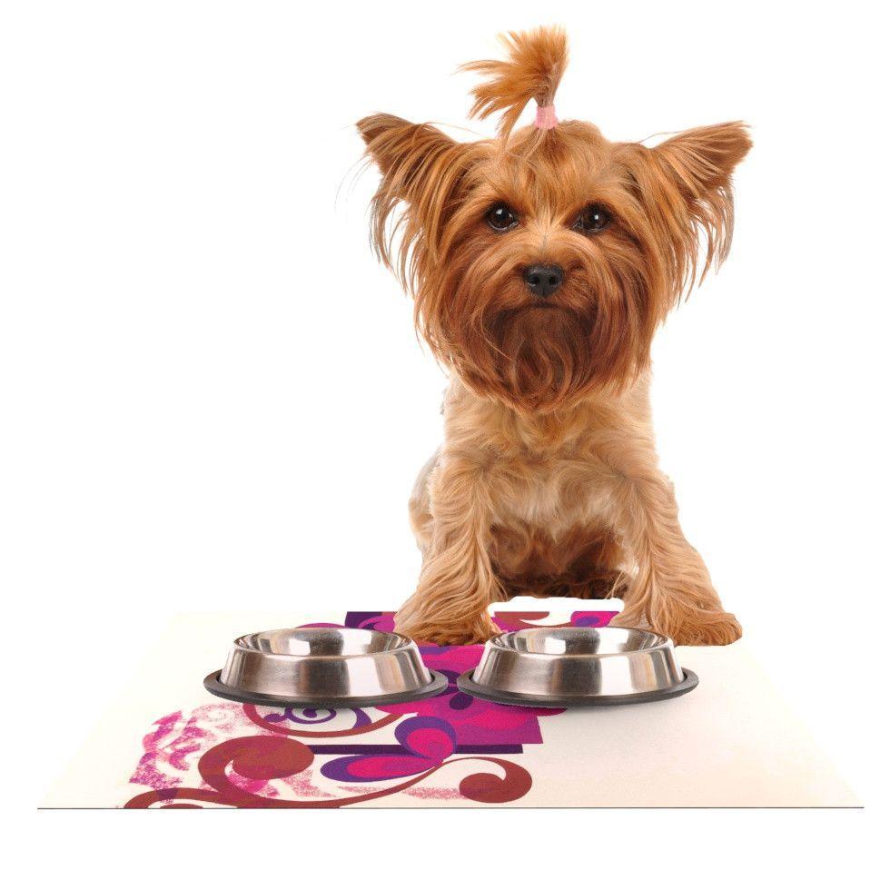 "Louise Machado ""Lilac"" Dog Place Mat"
