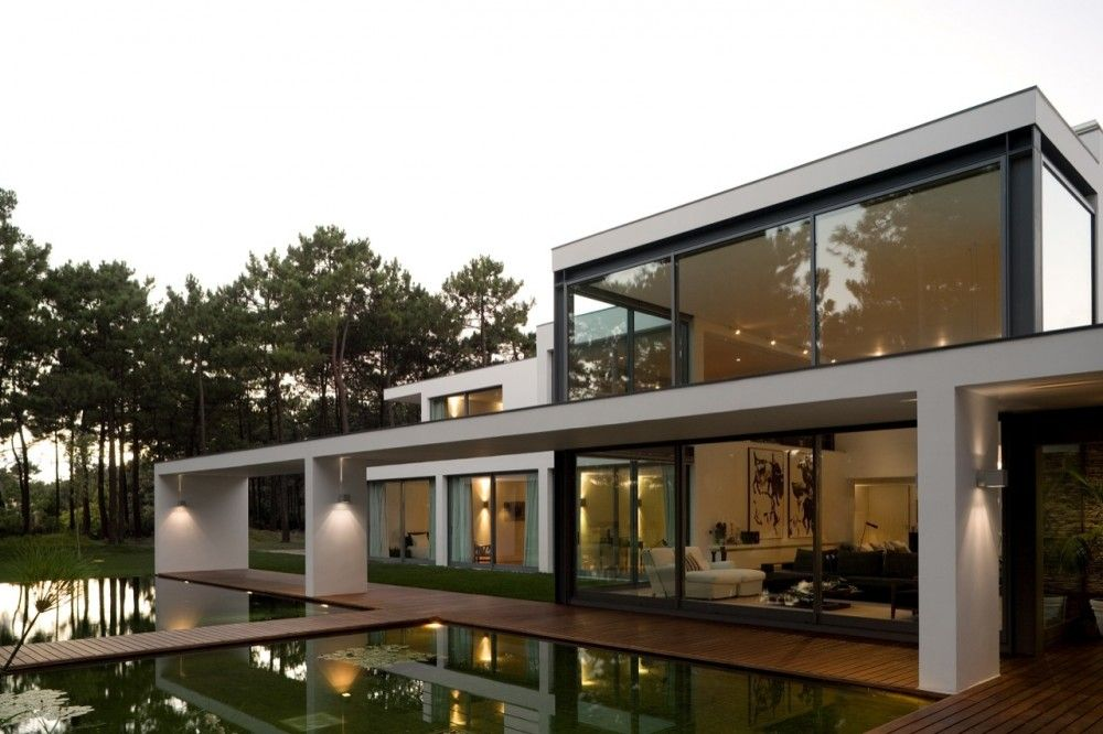 Casa Do Lago Frederico Valsassina Arquitectos Modern Lake House Architecture Minimalist House Design