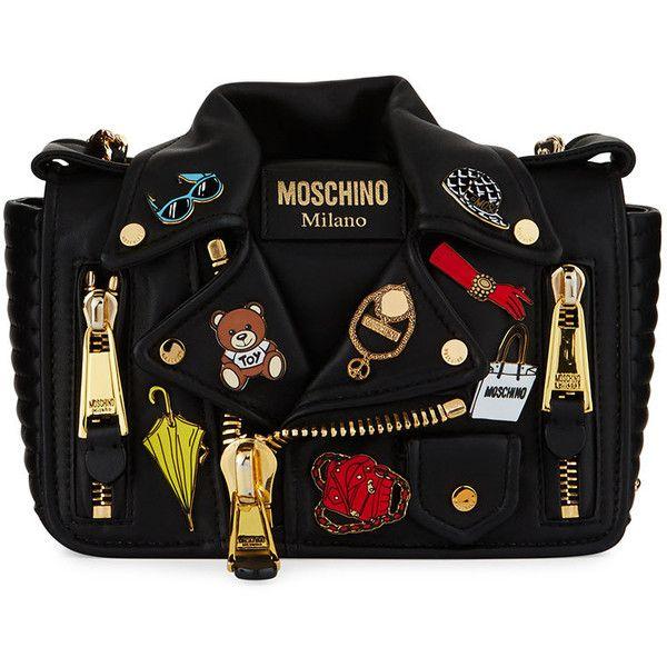 4c861f27d Moschino Fashion Pins Biker Jacket-Shaped Shoulder Bag (13,065 CNY ...