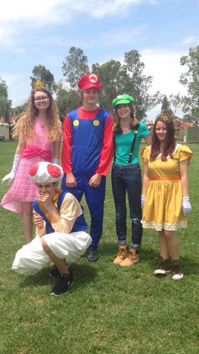 To say goodbye to one of our teachers, our year 12 class came in costumes for the day. This is the Mario Cart crew :) Princess Peach, Mario, Luigi, Princess Daisy and Toad ~ a moment we'll never forget ❤️~