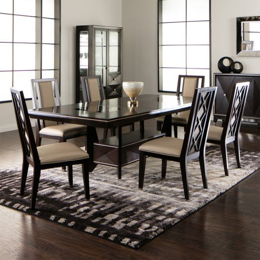 Elegant Tableware For Dining Rooms With Style: Contemporary Dining Room Set