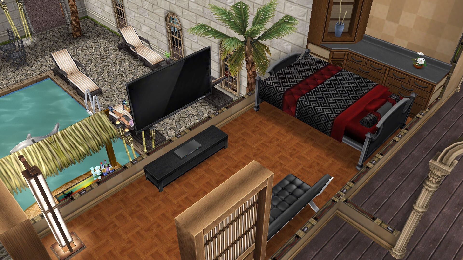 My Sims Free Play Sterling Archer S Y Summer Hideout Bedroom 10 13