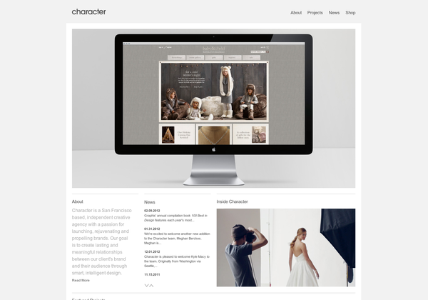 Http Www Charactersf Com Via Url2pin Web Design Inspiration Design Agency Product Launch