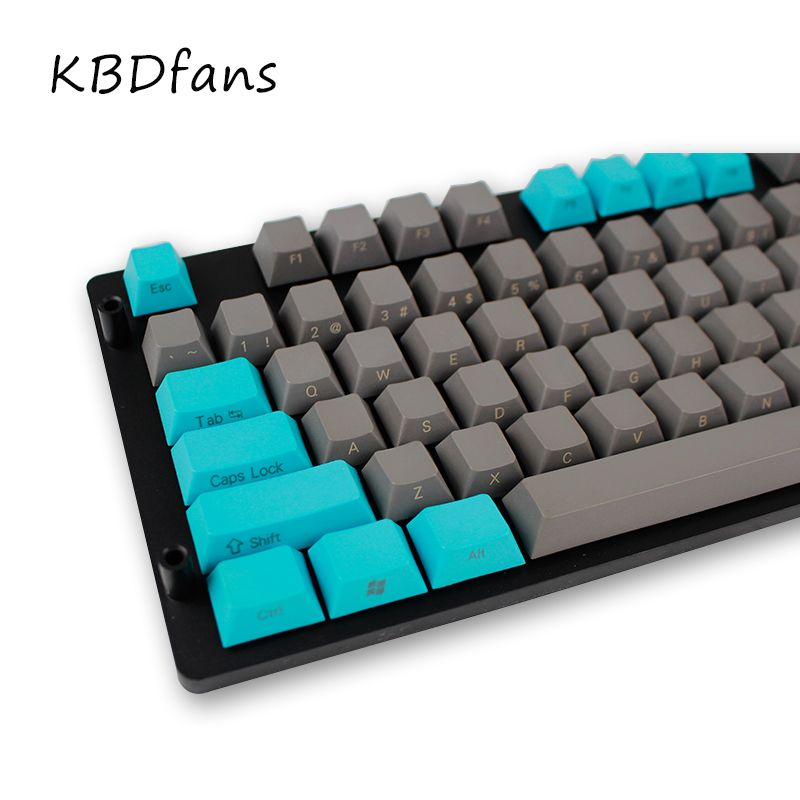 Aliexpress com : Buy side printed keycaps grey and green PBT cherry