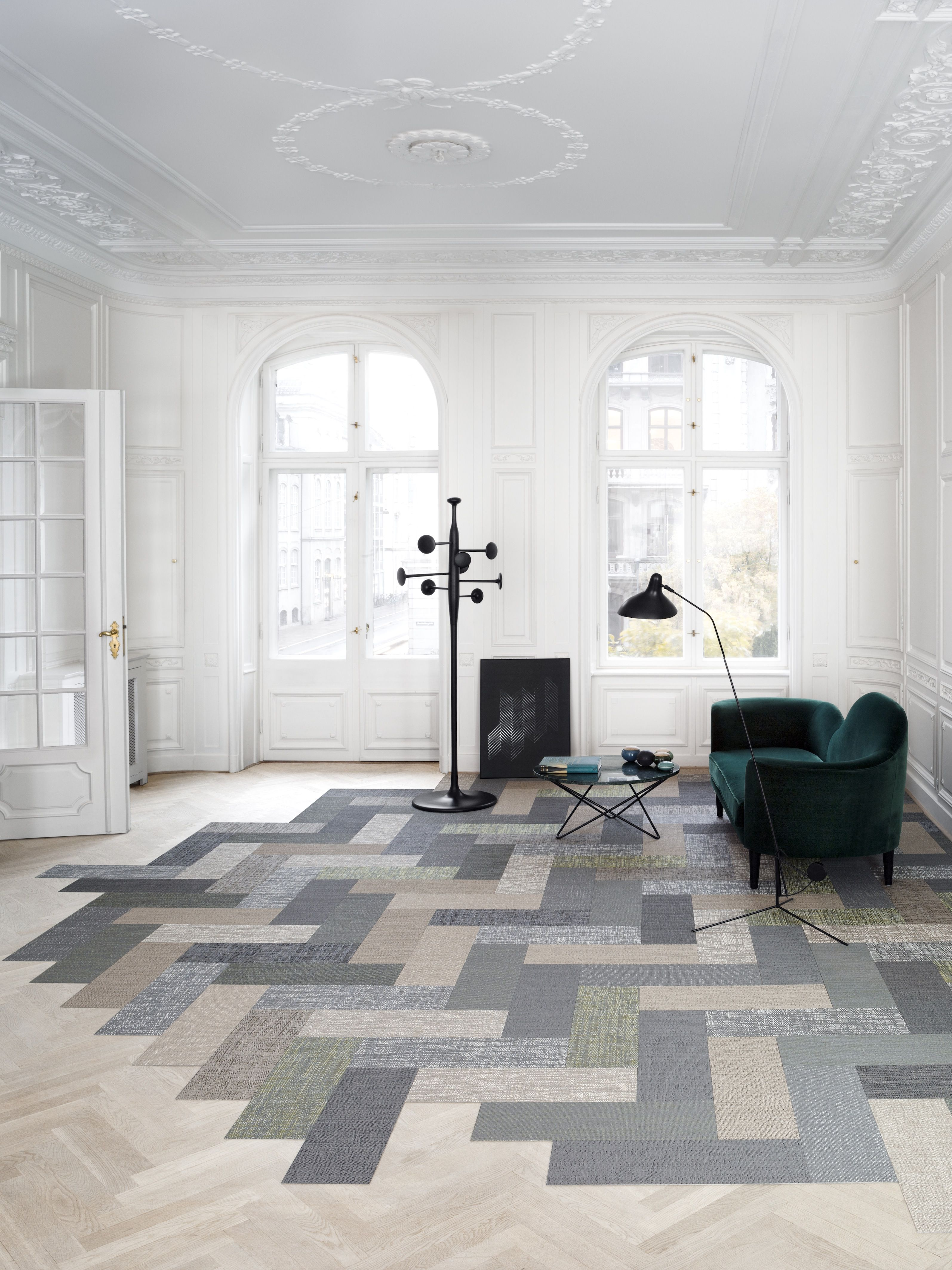 We Can Achive Something Similar By Laying The Full Tiles Colours Together Bolon Debuts Silence A Carpet Collection Influenced Nature Designboom