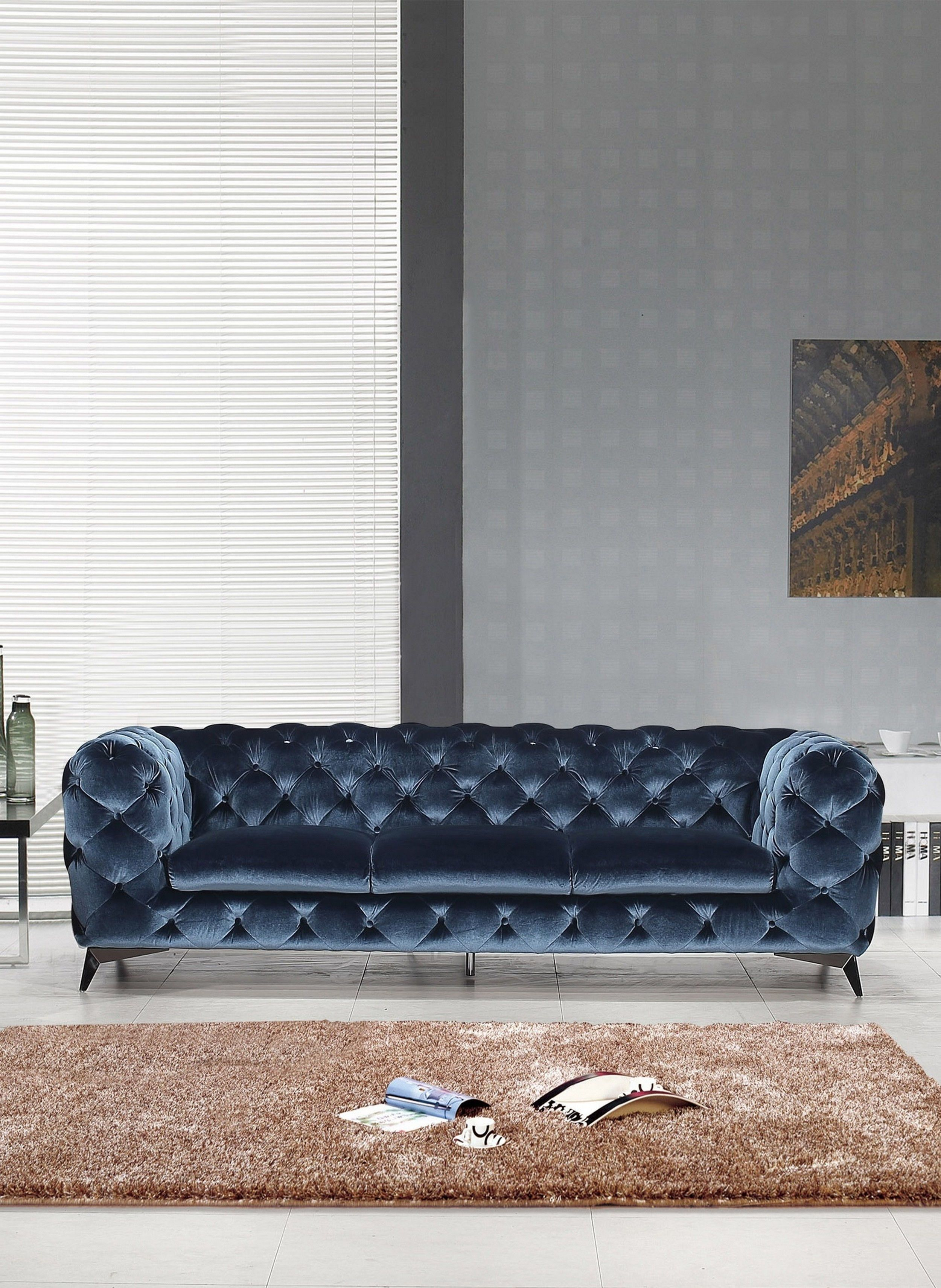 Glitz Blue Sofa In 2020 Fabric