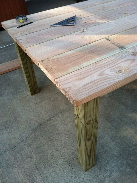 build own outdoor wood farm table home decor pinterest diy