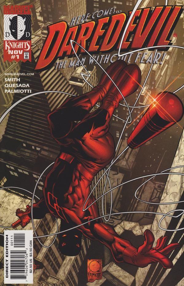 Marvel Knights #1 Joe Quesada Daredevil White Variant Marvel Comics