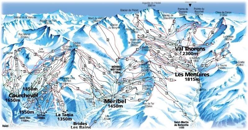 Les Menuires Piste Map click to enlarge Les Menuires Pinterest