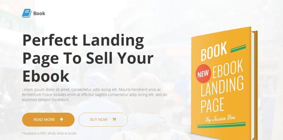 book landing page