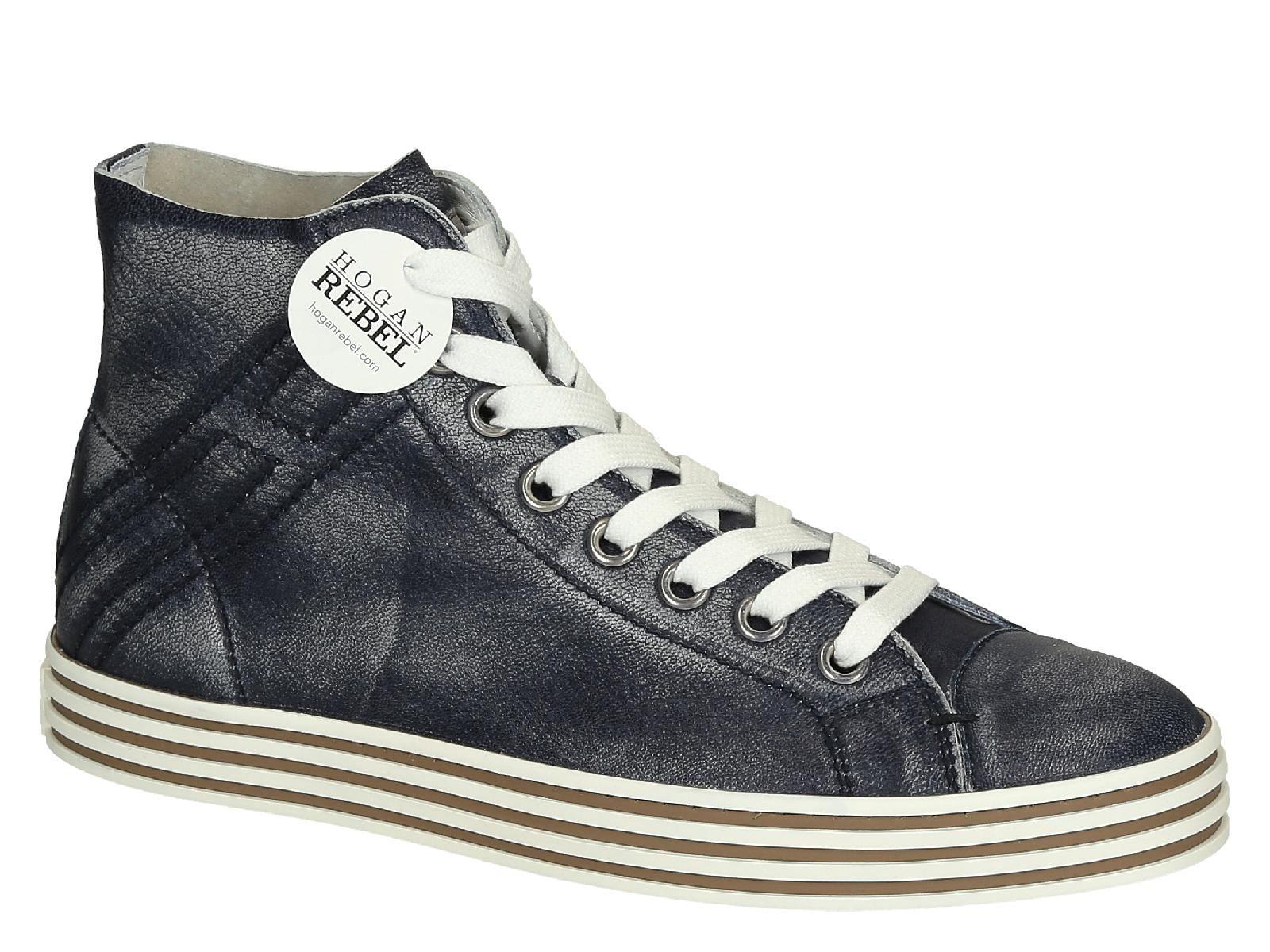Hogan Rebel zapatos zapatillas de deporte hombres en piel nuevo r141 rebel gris EU 40 HXM1410U370CG80XCT YtpvHYawT