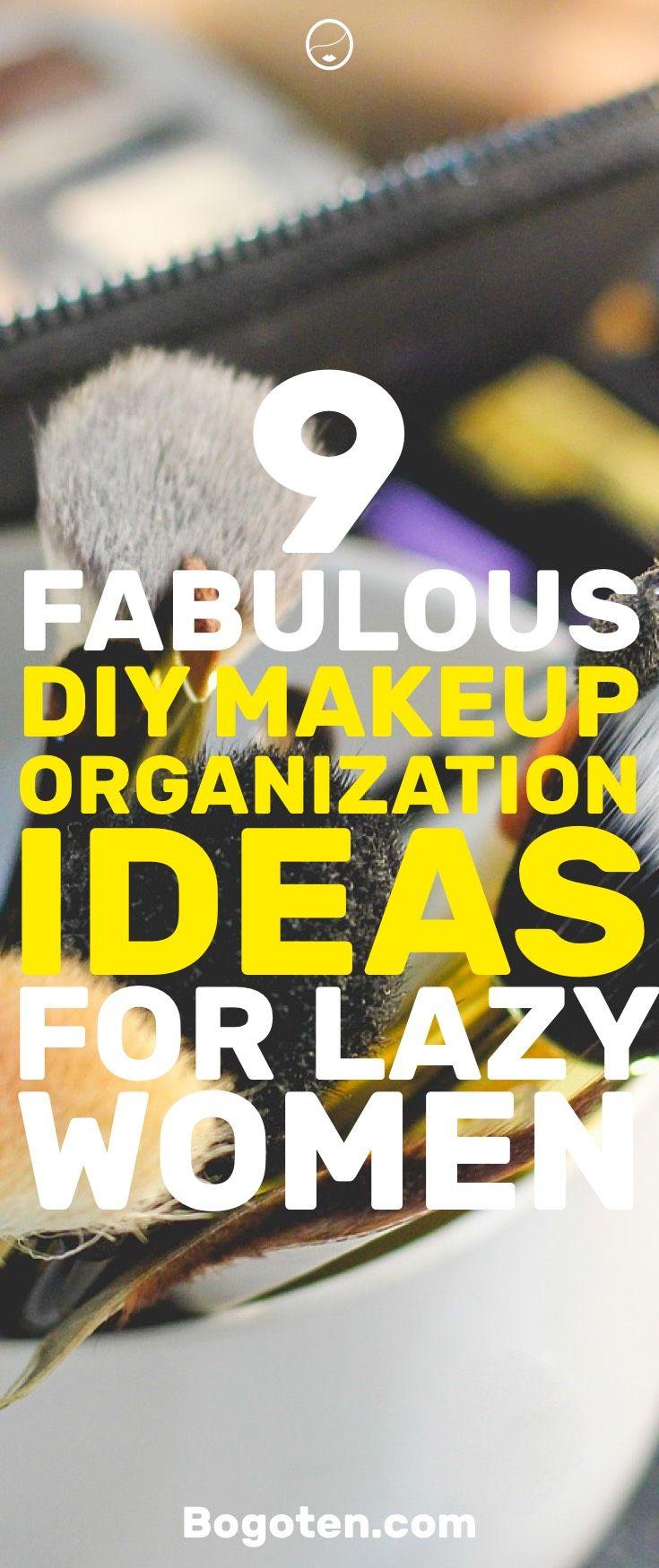 9 Great DIY Makeup Organization Ideas You Can Do Today | Makeup ...