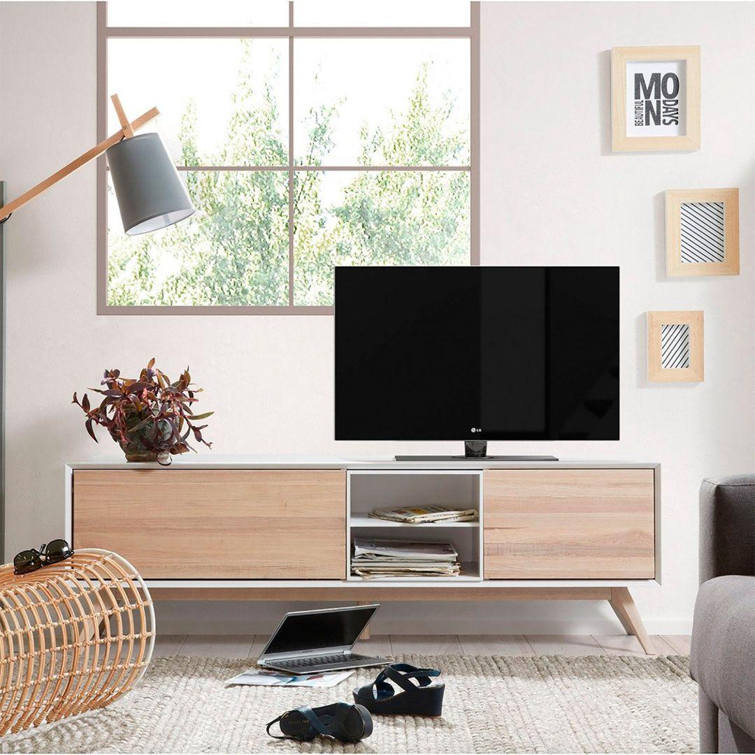 Mueble Tv Nordico Quattro Con 2 Puertas Living Room  # Muebles Leandro