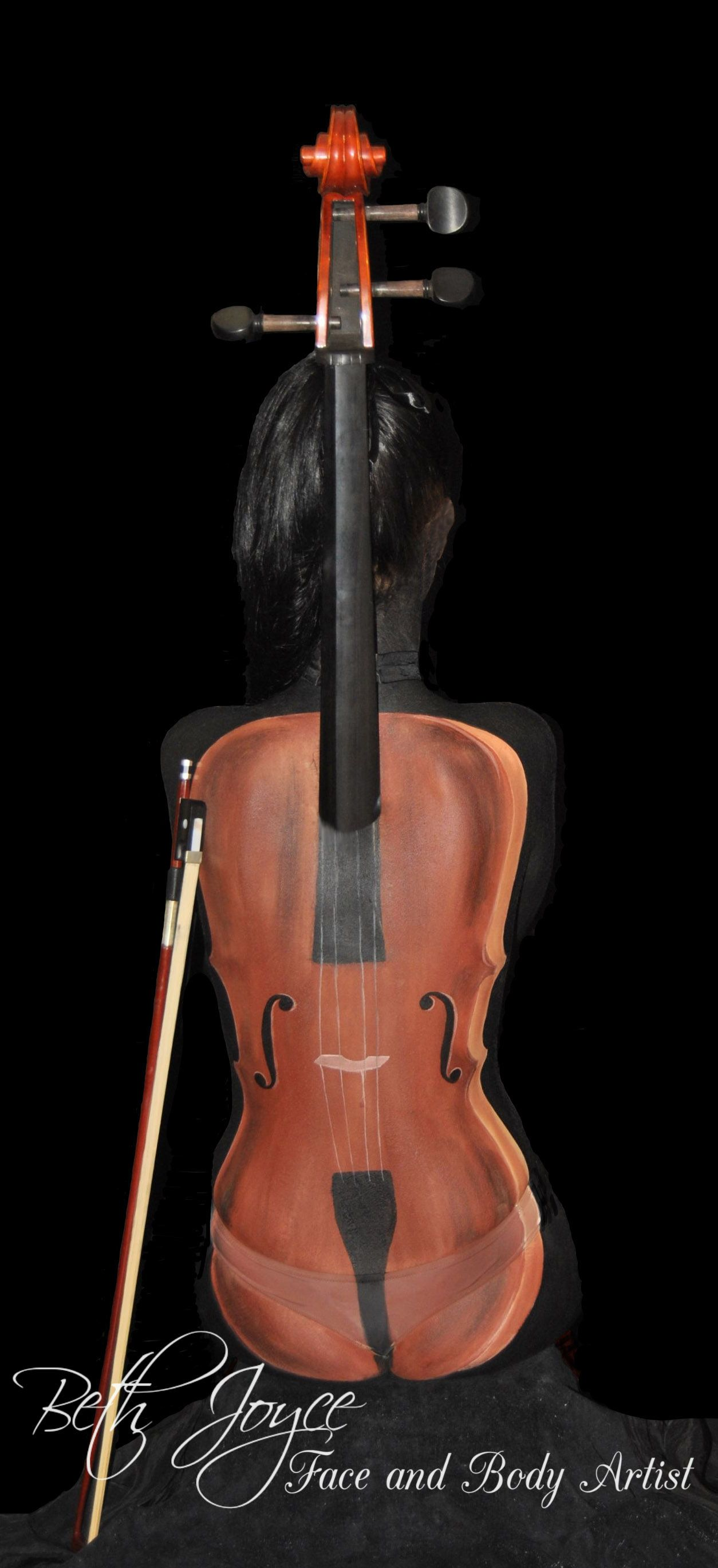 Cello Body Painting. Love what I do Best Job in the