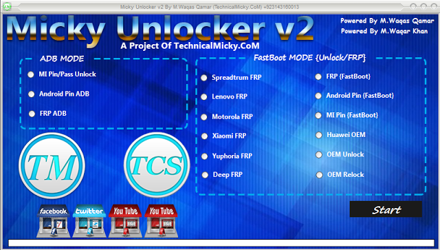 All android Frp unlock Tool Micky Unlocker Tool V2 Free Download Mi