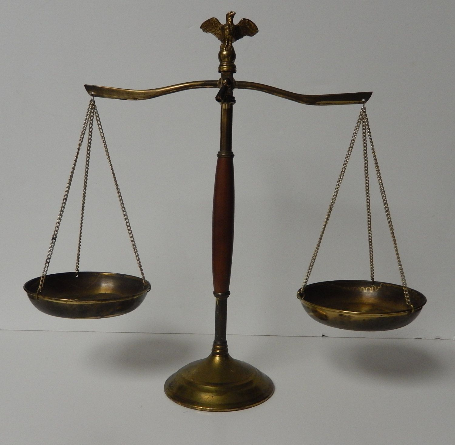 antique scales of justice Vintage scales of Justice Brass And Wood Scales  Balancing Scale  antique scales of justice