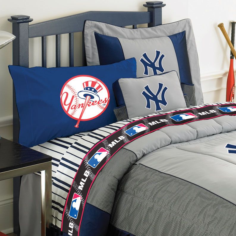 New York Yankees Queen Size Sheets Set Ny Yankees Bedroom Yankee Bedroom Baseball Bedroom