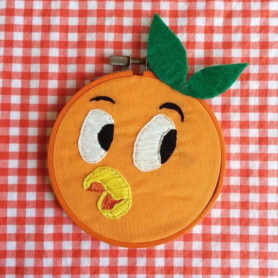 Orange Bird Hoop