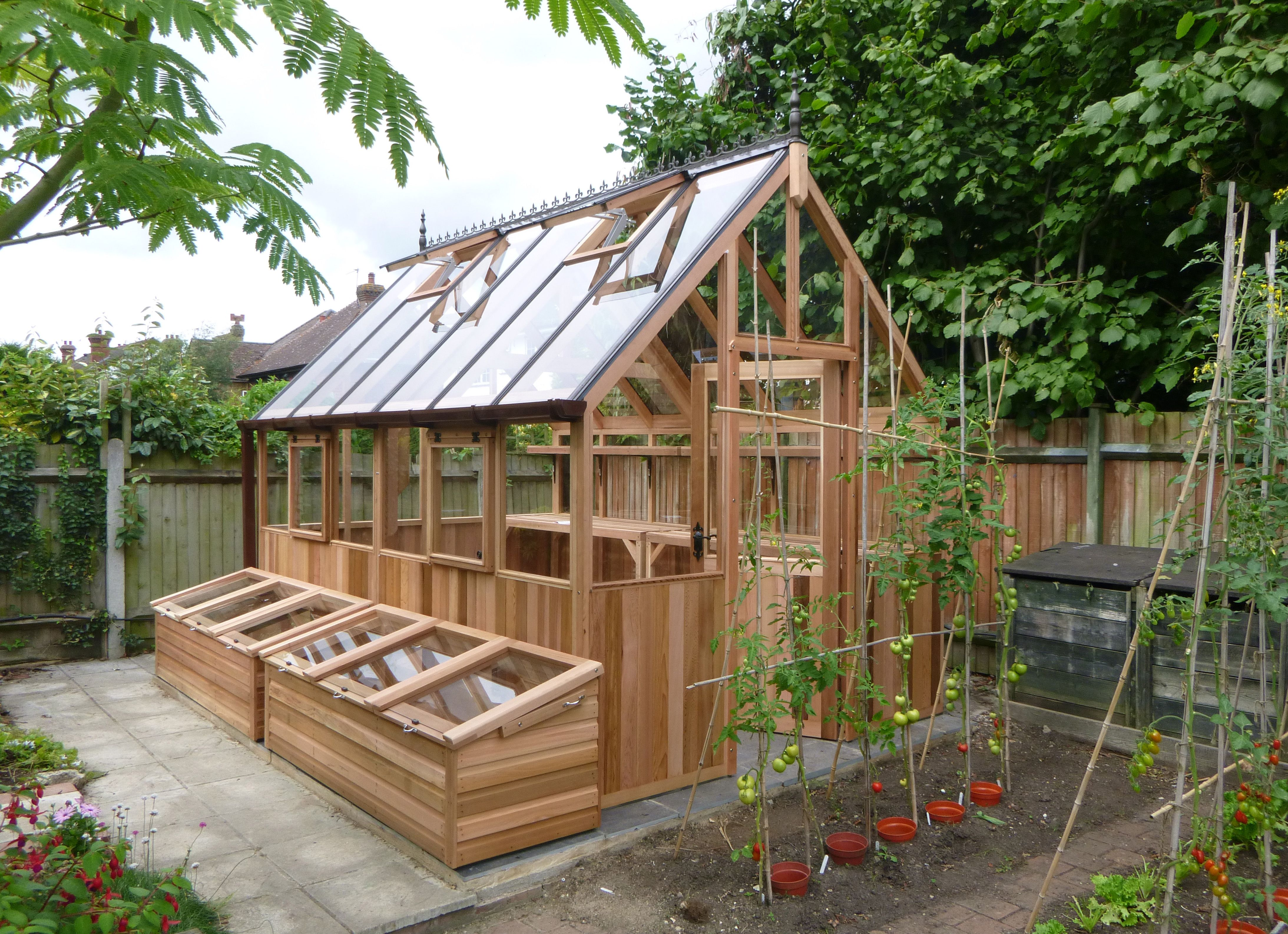 The Kings Bromley - Cedar greenhouse with coldframes. - http ...