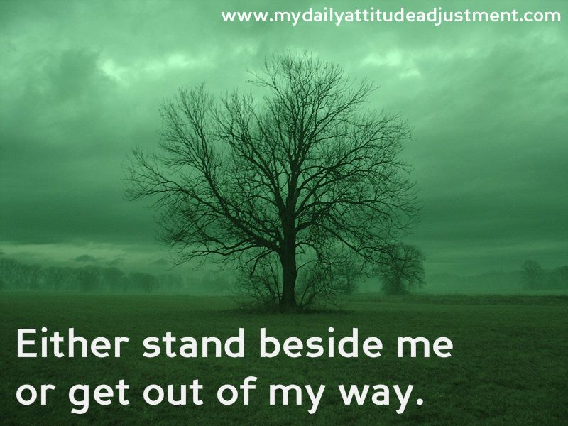 Stand beside me...