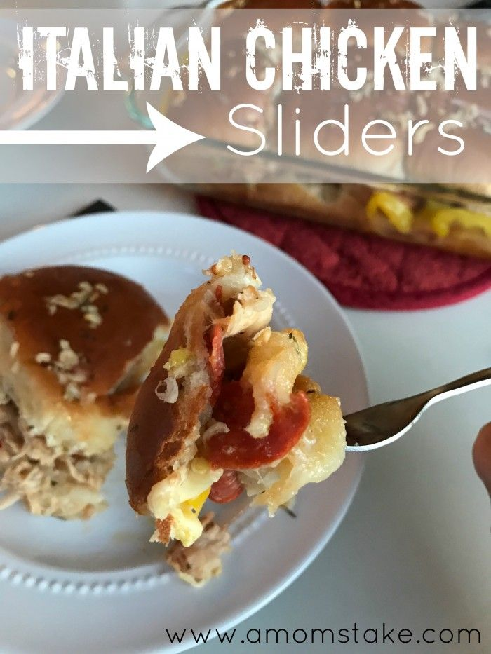 These savory Italian Chicken Sliders are a perfect game day food for sharing. Great for parties and large groups!