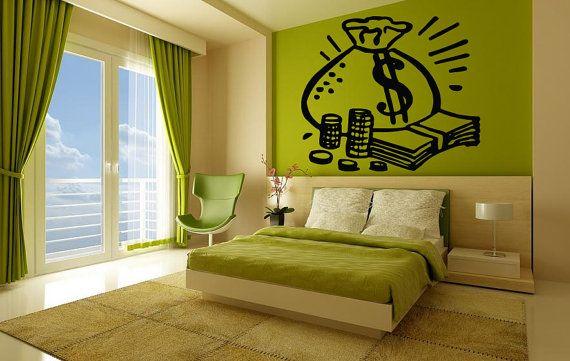 Wall Vinyl Sticker Decals Mural Room Design Pattern Coins Money ...