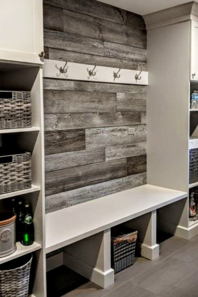Mudroom Ideas  DIY Rustic Farmhouse Mudroom Decor, Storage and Mud Room Designs We Love – Pallet wall decor