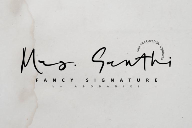Mrs Santhi Fancy Signature