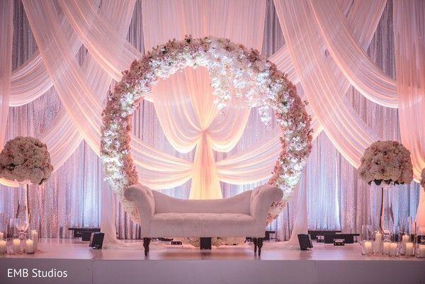 Miami Florida Indian Wedding By Ebm Studios Wedding Decorations Indian Wedding Decorations Receptions Wedding Backdrop Decorations Wedding Reception Backdrop