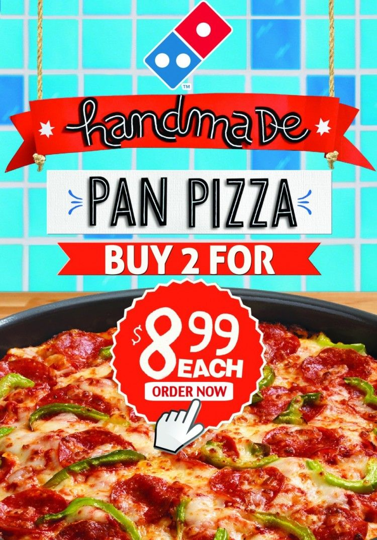 Dinner @Domino's Pizza ? Yes! order now 2 delicious handmade pan ‪#‎pizza‬ for only $8,99 each! So ‪#‎tasty‬! so good! #Bahamas