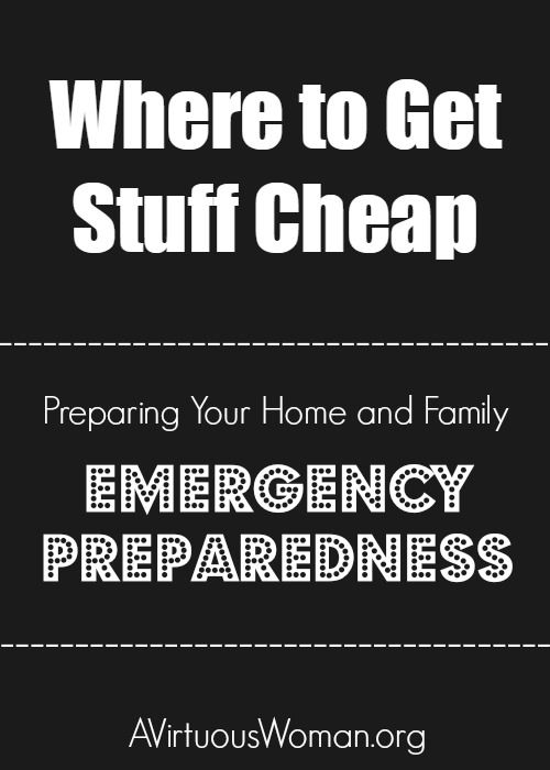 If you think you can't afford to prepare your home and family, here's a list of ideas for where you can get emergency supplies cheap.