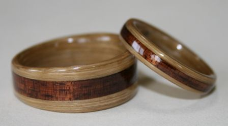 Bamboo Rings From Touch Wood Rings Wooden Rings Engagement Wooden Wedding Ring Wooden Rings Diy